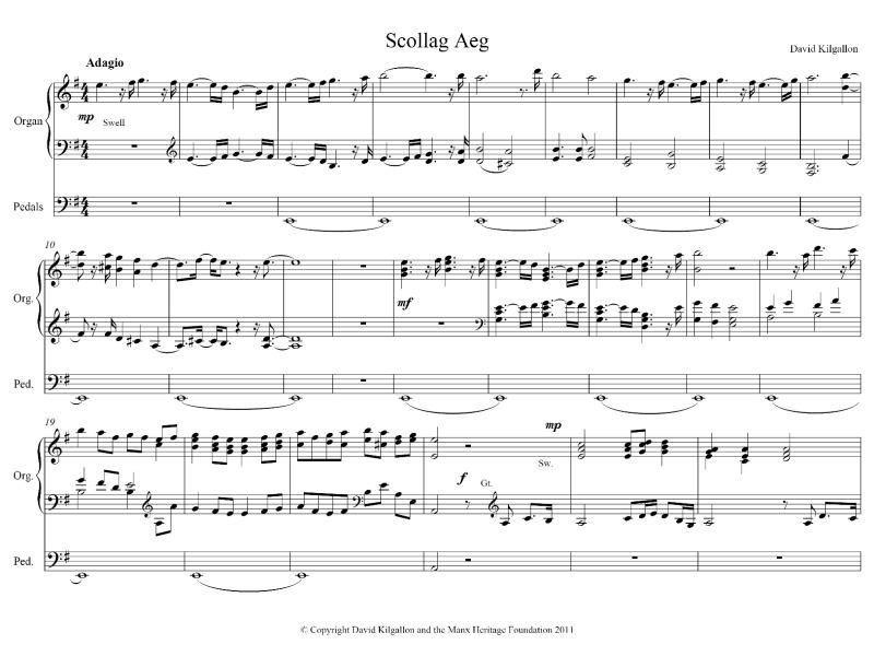 Scollag Aeg by David Kilgallon (solo organ) | ManxMusic com